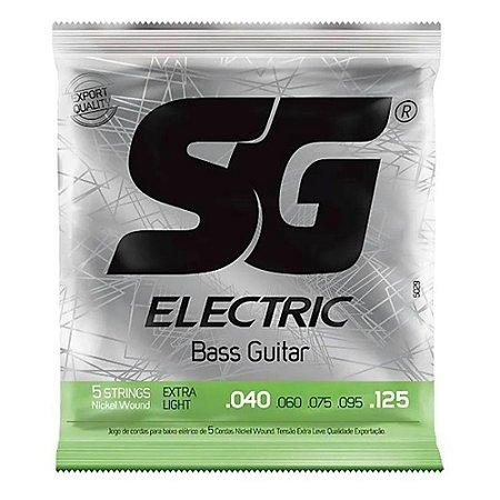 Encordoamento SG Baixo 5 Cordas 040/125 Níquel Extra Light 5029
