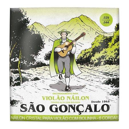 Encordoamento São Gonçalo Violão Nylon Cristal Alta Bolinha 11040