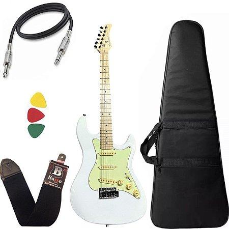 Kit Guitarra Strinberg Sts150 Branco Alder Strato Capa bag