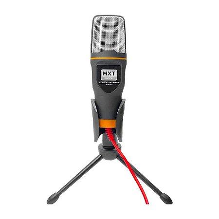 Microfone Condensador com Tripé de mesa Mxt Plug P2 Mxmc017