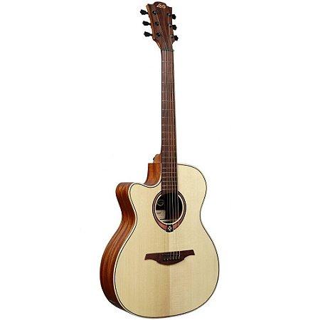 violão canhoto lag Tramontane TL88ACE Auditorium Tampo Maciço