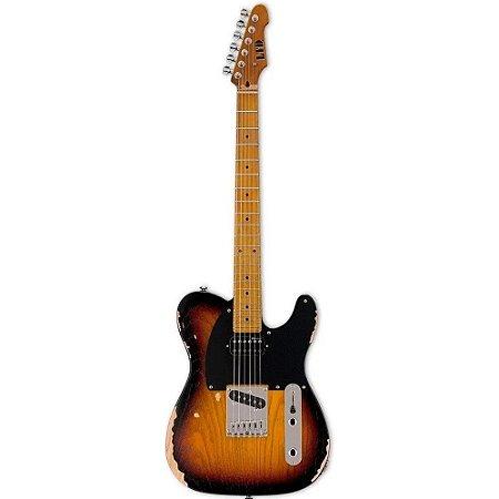 Guitarra Telecaster esp ltd LTE254D Distressed relic 3 tone