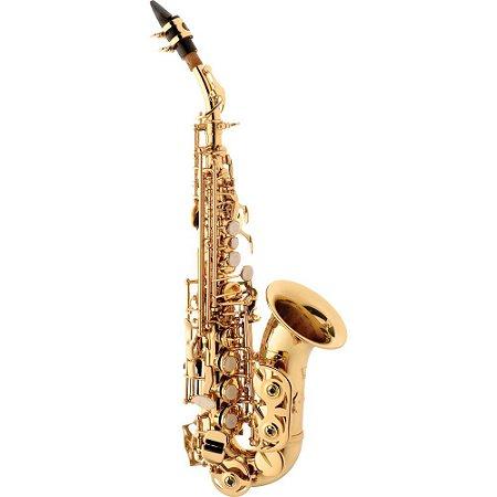 Sax Soprano Eagle Sp 508 Curvo Laqueado Com Estojo case