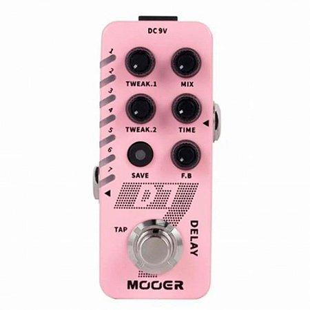 Pedal Mooer D7 Delay e loop micro series 6 tipos de delay