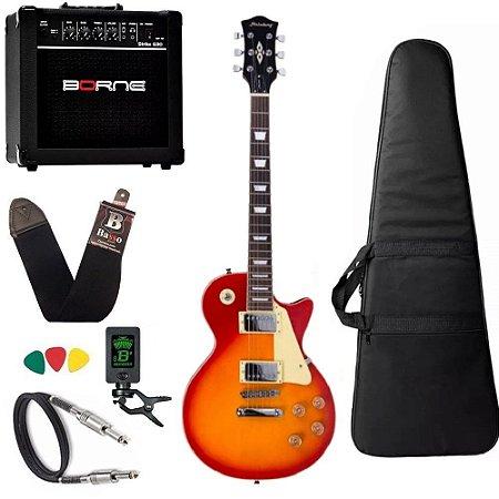 Kit Guitarra Strinberg Lps230 Cherry Sunburst Cubo Borne