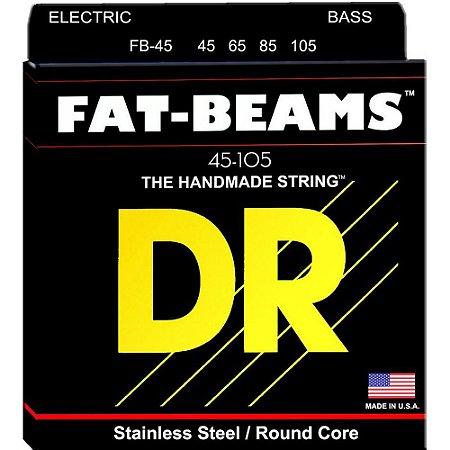Encordoamento Baixo Dr Strings Fat Beams 4 Cordas 45-105