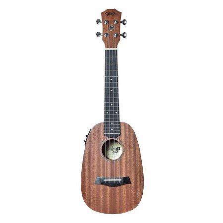 Ukulele Elétrico Seizi Bali Pineapple Sapele Concert