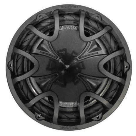 Subwoofer Bravox Black BK12D2 12 Polegadas 350W RMS 4+4 Ohms Bobina Dupla