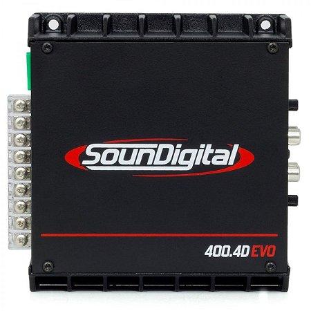 Modulo Amplificador SounDigital SD400.4 EVOII 4 Canais de 100 Rms