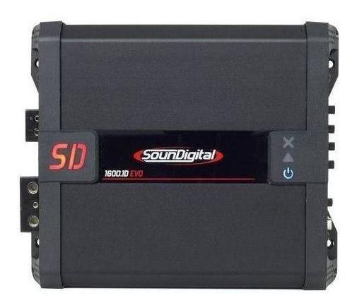 Modulo Amplificador SounDigital SD1600 1 Canal 1600 RMS 2 OHMS