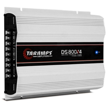 Modulo  Amplificador Taramps DS 800 X4 800w Rms Rca Ds 800x4 4 Canais 2 Ohms