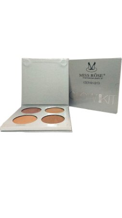 Kit Iluminador de 4 cores Miss Rose Prata