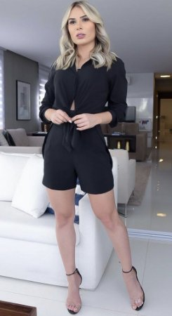 Shorts Alfaiataria Preto