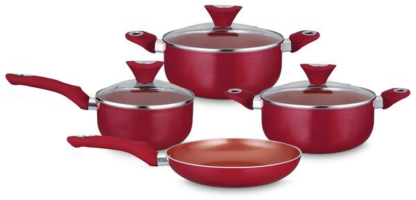 Conjunto Ceramic Red Copper - 4 peças - Eirilar