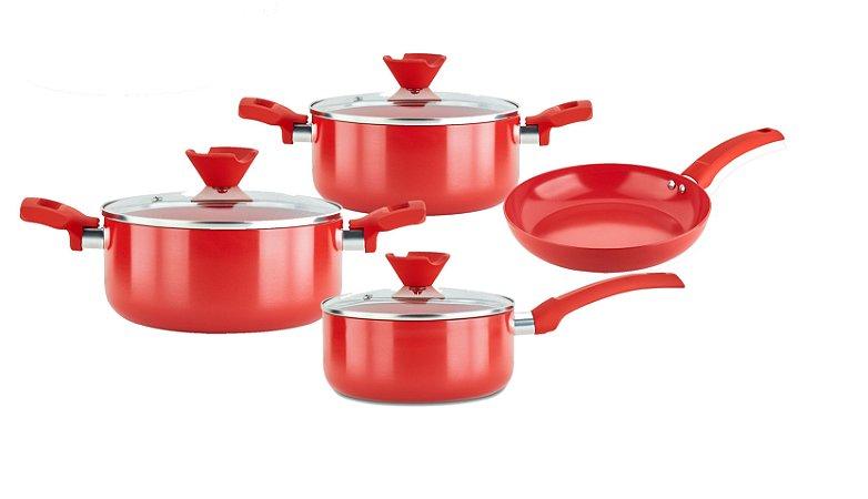 Conjunto Ceramic Copper Red - 4 Peças