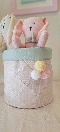 Cesto Organizador de Brinquedos Baby Rosa