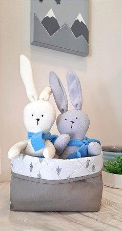 Cesto Organizador de Brinquedos Baby Cinza