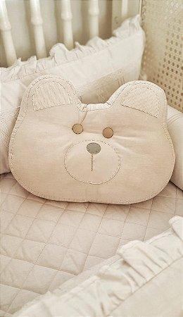 Almofada Decorativa Carinha de Urso