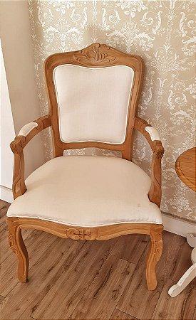 Cadeira Luiz XV Madeira Maciça Mel