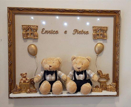Porta Maternidade Irmãos Urso Dourado