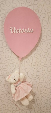 Porta Maternidade Balão com Ursinha