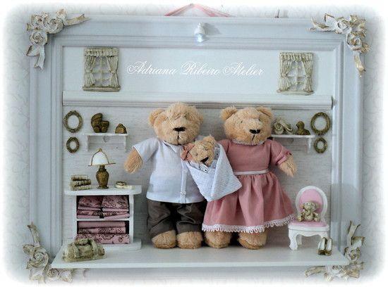 Quadro Ursinhos Família