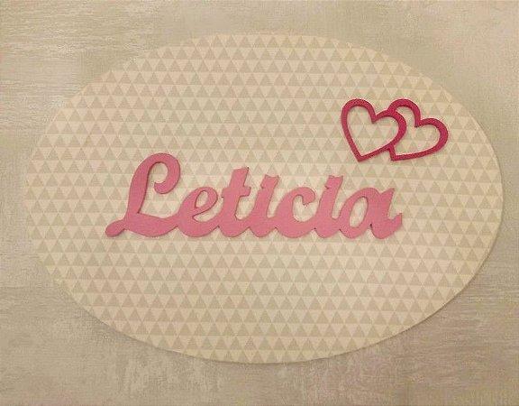 Porta Maternidade Letícia com Corações