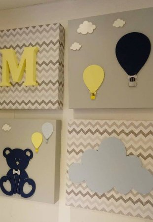 Quadro Conjunto Urso Balões