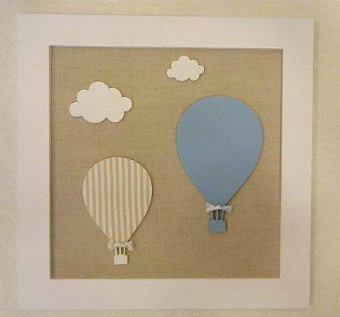 Quadro Balões e Nuvens