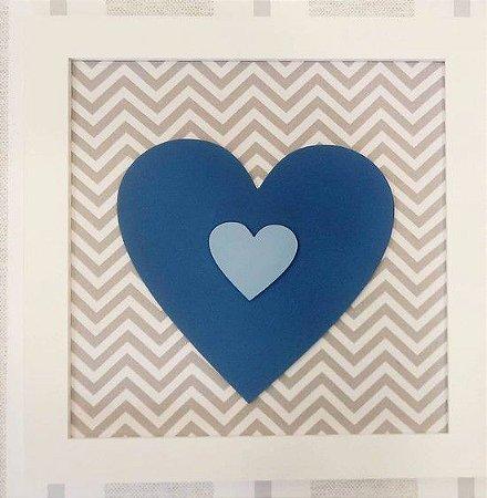 Quadro Coração Azul