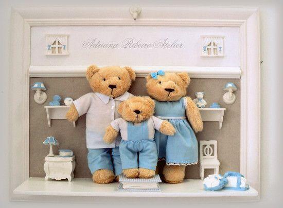 Quadro Urso Família Feliz