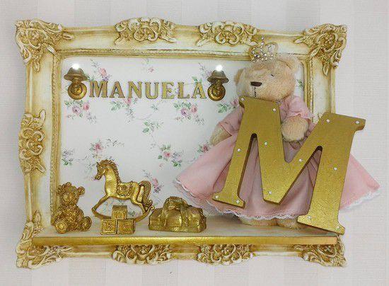Porta Maternidade Ursinha Princesa com Letra