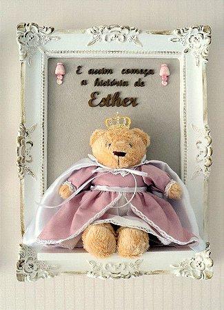 Porta Maternidade Ursinha Princesa