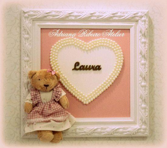 Porta Maternidade Ursinha Coração
