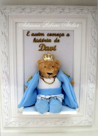 Porta Maternidade Davi Ursinho Príncipe