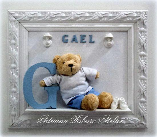 Porta Maternidade Ursinho com Nome
