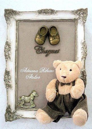 Porta Maternidade Ursinho Sentado Cheguei
