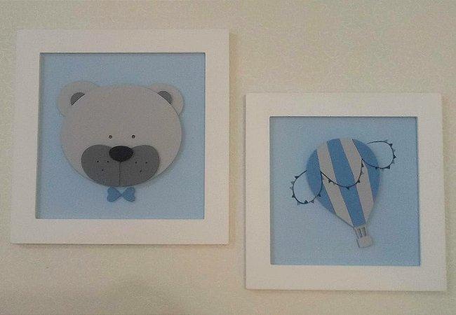 Quadros Urso e Balão