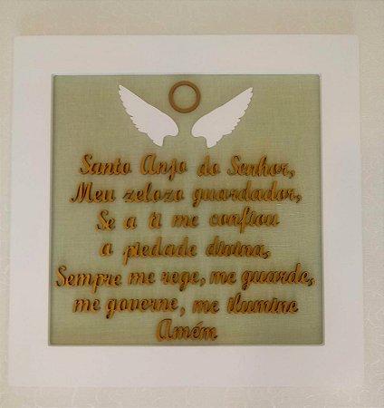Quadro Oração Santo Anjo