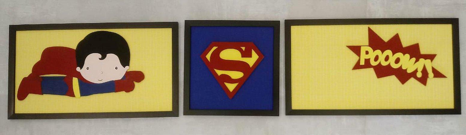 Quadro Conjunto Super Homem
