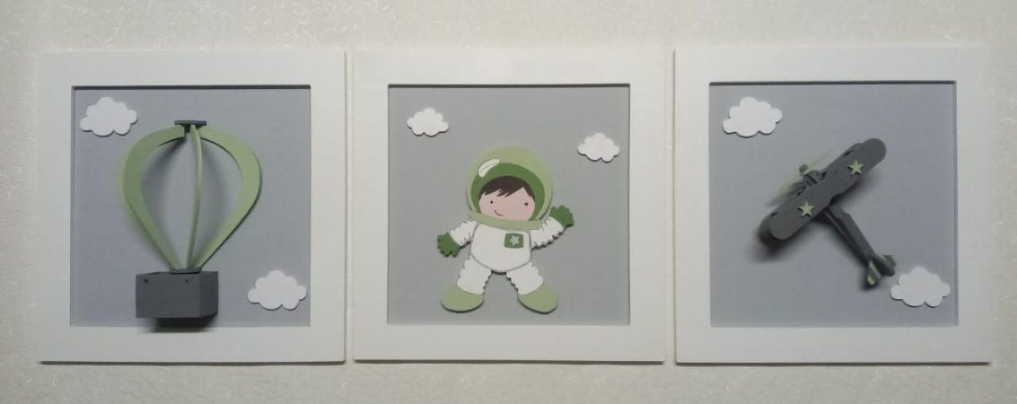 Quadro Tema Menino Astronauta