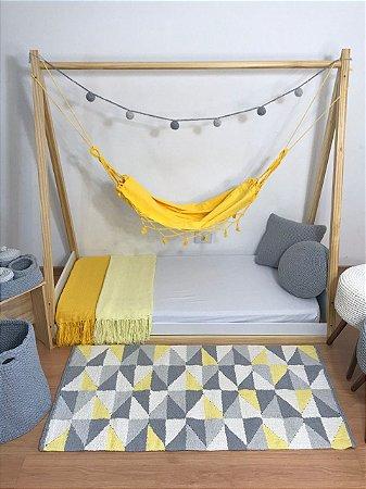 Tapete Tear Infantil Cores Amarelo Branco e Cinza