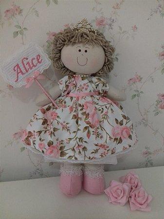 Boneca de Pano Princesa Alice