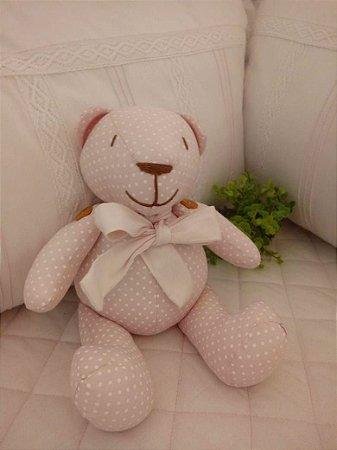 Ursinho Baby Rosa Bolinha