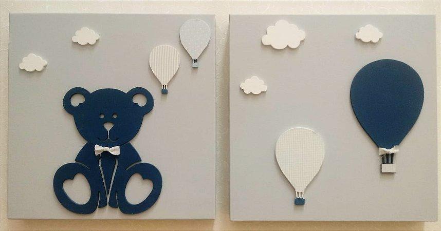 Quadros Urso e Balões
