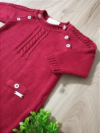 Saída Maternidade Macacão Verona Vermelho