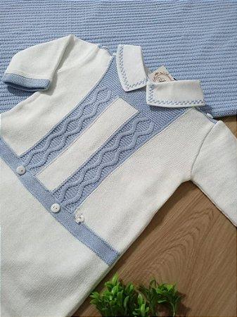 Saída Maternidade Sr Am Branco Azul