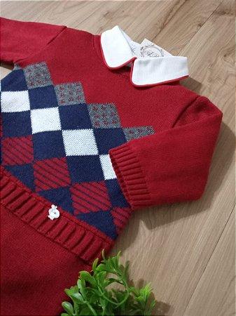 Saída Maternidade Losangos Vermelho Raman