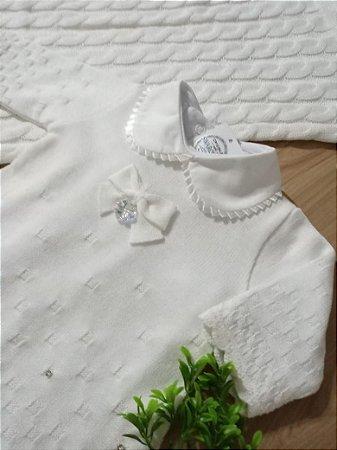 Saída Maternidade Tijolinho Branco