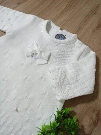 Saída Maternidade Vestido Tijolinho Branco